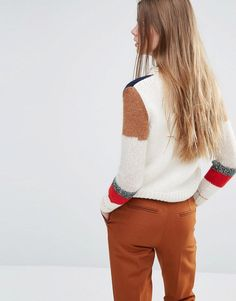 Vanessa Bruno Athé | Vanessa Bruno Athe Knitted Sweater with Patchwork at ASOS