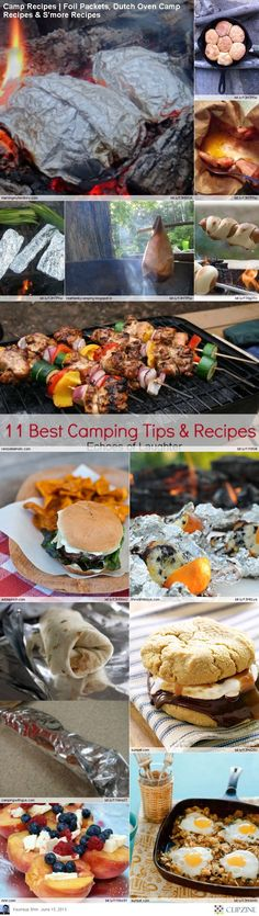 EASY Camping Recipes. Or if you have a fireplace in your home and the power goes out unexpectedly then you can just whip these out and there's a good meal for you and your family!(: