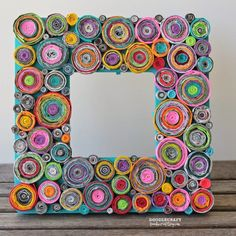 Upcycled Rolled Paper Frame | 10 DIY Rolled Paper Crafts From Recycled Magazines