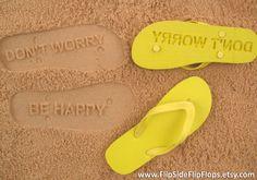 Custom Sand Imprint Flip Flops. Personalize With Your Design. No Minimum Order Quantity.