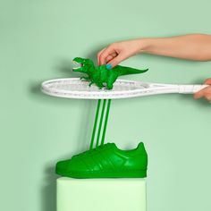 The playful adidas Originals Supercolor is the star of Marion Toys latest art project- sneakers - green