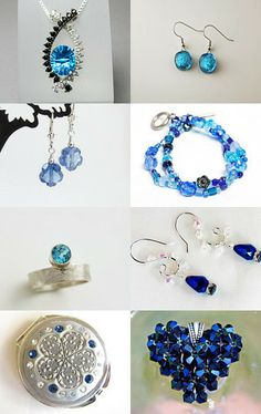 Crystal blue by Pamela Whitlow on Etsy--Pinned with TreasuryPin.com