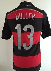 GERMANY Football Shirt 2014 WORLD CUP #13 MULLER Size S SMALL | eBay