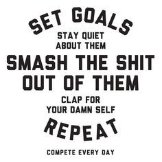 "Smash every goal you set. <a class=""pintag searchlink"" data-query=""%23Compete"" data-type=""hashtag"" href=""/search/?q=%23Compete&rs=hashtag"" rel=""nofollow"" title=""#Compete search Pinterest"">#Compete</a> for it."