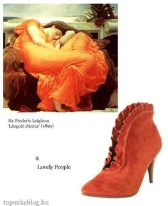Painting by Frederic Leighton, shoes by Lovely People