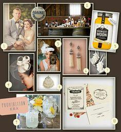 Prohibition theme wedding