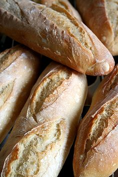 Homemade French baguettes by Le Petrin, via Flickr ~ Recipe (in French, use Google Translate)