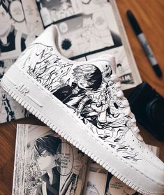 A quoi ressemble la Nike Air Force 1 Low My Hero Academia ? Custom Sneakers, Custom Shoes, Custom Clothes, Anime Inspired Outfits, Anime Outfits, K Fashion, Sanrio Hello Kitty, Sneakers N Stuff, Vans Sneakers