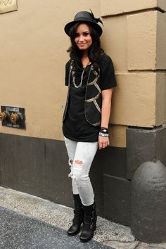Demi Lovato in an IRO vest. Dang she looks good in EVERYTHING. SHE CAN WEAR A HOBO'S RAGS AND SHE'LL LOOK AWESOME ANYWAY!