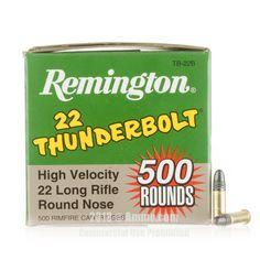 Remington 22 LR Ammo - 500 Rounds of 40 Grain LRN Ammunition #Remington #RemingtonAmmo #22LRAmmo #22LR