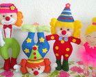 Personagens do Circo em feltro
