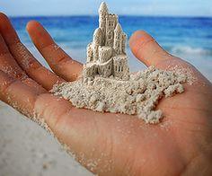 sand castles.