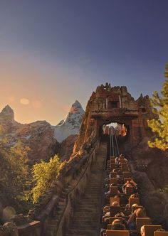 The most amazing view of Disney World is up this hill on Expedition Everest (Animal Kingdom). I have a feeling I will be wielding my camera on the ride next time we go. Walt Disney World, Disney World Resorts, Disney Parks, Disney World Fotos, Viaje A Disney World, Disney World Pictures, Disney Vacations, Disney Trips, Family Vacations
