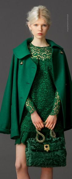 True Winter (12-Tone | Sci\ART method colour analysis) | Ermanno Scervino Pre-Fall 2014 i love the color and the lace.