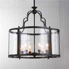 Oval Quatrefoil Lantern - Large $800 for foyer