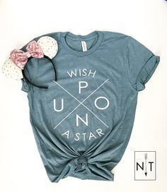 DisneyStreet Style / Disney Outfit wish upon a Star Disney Tees, Disney Diy, Disney Magic, Disney Apparel, Cute Disney Shirts, Matching Disney Shirts, Disneyland Trip, Disney Vacations, Disney Vacation Outfits
