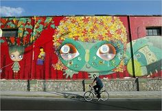 Collection of great graffiti art, life is beautiful when art is all around us! See more graffiti art, street art, urban art from graffiti artist Mr Pilgrim. Diy Wall Painting, Cow Painting, Best Street Art, Amazing Street Art, Urban Graffiti, Graffiti Art, Android Art, Wonder Art, Art Rules