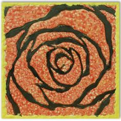 Rose on a red background.