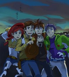 Toy Story in Anime Version