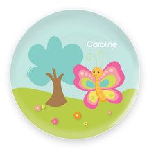Cute And Sweet Butterfly Personalized Melamine Plates  sc 1 st  Pinterest & Personalized Melamine Plate or Bowl Butterfly | Personalized ...