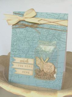 Wish You Were Here Beach card by Jess Witty