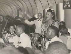 Ella Fitzgerald with the Chick Webb Band!