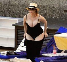 Christina Hendricks on holiday