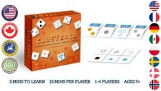 Clustered: 2nd Edition - A Strategic Card Game.   Battle your opponents by placing cards with matching attributes next to each other. Can you out-strategize everyone to win?