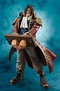 One Piece 2013 Portrait of Pirates Gol D. Roger Figure In Stocks