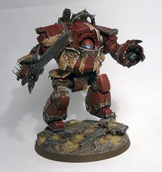 40k - Word Bearers Chaos Contemptor Dreadnought by Rovient, via Flickr