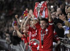 Gerrard lifts his second League Cup, this time after beating Cardiff City on penalties at ...