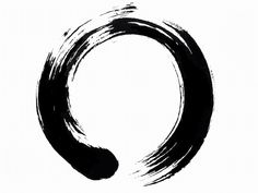 """The Enso (円相), or Zen circle, is one of the most appealing themes in Zen art.  The Enso itself is a universal symbol of wholeness and completion, and the cyclical nature of existence, as well as a visual manifestation of the Heart Sutra, ""Form is void and void is form.""  One can see in these paintings of the Enso that form and void are also interdependent and, in fact, define each other.  Most examples of Enso also include calligraphy, which gives further clues and refinements of meaning."""