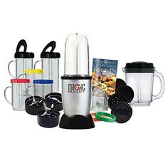 Magic Bullet Deluxe 25 pc Set Blender Mixer 21 pc set with a 4 pc bonus *** Details can be found by clicking on the image.