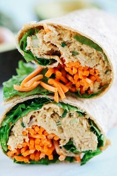 This spicy tuna avocado wrap made with Bumble Bee albacore tuna looks amazing. Quick, healthy, and easy to make. Perfect addition to my lunch lineup! Only Albacore AD http://www.eatyourselfskinny.com/spicy-tuna-avocado-wrap/