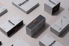 Visual identity and packaging design by Folch for Honom, DOIY's new range of products for men. Opinion by Richard Baird. Brochure Design, Branding Design, Identity Branding, Packing Box Design, Industrial Packaging, Electronic Packaging, Brand Packaging, Packaging Dielines, Design Packaging