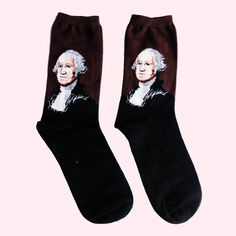 Look patriotic in this George Washington Socks with its model print of the late President himself.