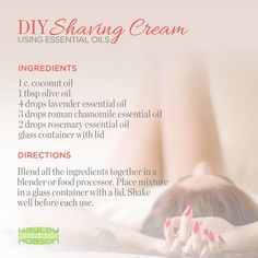 Another common beauty product that is laden with harmful chemicals is shaving cream. So in response, try this DIY shaving cream for a natural alternative! You can chose any essential oil that you prefer, but I like lavender, roman chamomile, and rosemary because of their abilities to calm, relax, and soothe tension in the body and the mind. Have you done this before? If so, what oils have you used? www.hayleyhobson.com