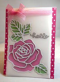 Pink Panoply: Vellum Overlay - Stampin Up Rose Wonder