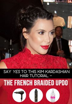 Steal this Kim K braided updo in 8 easy-to-follow steps, courtesy of celebrity stylist Josue Perez.