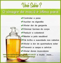 Na Cozinha da Margô: Dica: Vinagre de Maçã