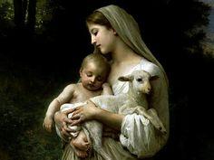 Virgen de la Ternura con cordero :)