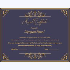 99 best award certificate templates images award certificates