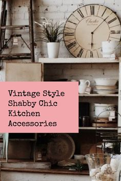 Where to find shabby chic accessories online. Country cream accessories for the kitchen. Shabby Chic home decor accessories for a pretty vintage look. Shabby Chic Interiors, Shabby Chic Homes, Shabby Chic Style, Shabby Chic Decor, Rustic Style, Vintage Style, Quirky Home Decor, Eclectic Decor, Shabby Chic Kitchen Accessories