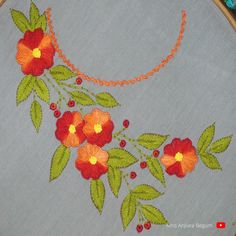Hand Embroidery Design Patterns, Border Embroidery, Kurti, Pattern Design, Crochet Necklace, Tapestry, Invitations, Gowns, Youtube