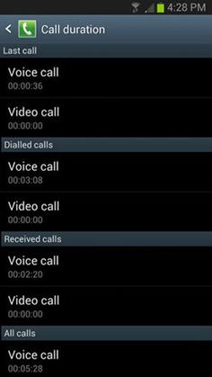 How To Use Call Duration On Samsung Galaxy S4 - Galaxy S4