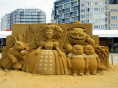 Sand sculpture in Ostend Belgium
