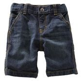 Cotton denim shorts are easy to style and ideal for his outdoor adventures. An adjustable waist gives him room to grow.