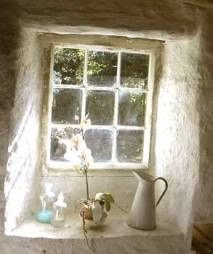 Reminds me of Ireland!  The thick walls and the lead windows were darling!