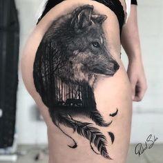 Top tattoos - New Tattoo Models Wolf Tattoo Forearm, Hip Thigh Tattoos, Wolf Tattoo Sleeve, Sleeve Tattoos, Badass Tattoos, Sexy Tattoos, Cute Tattoos, Body Art Tattoos, Girl Tattoos