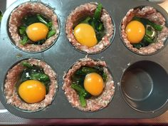 These breakfast sausage cups are the perfect low-carb breakfast-on-the-go! I usually make them in advance so that I can have one every morning while on my wa